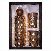 Designer Hammered Copper Water Bottle