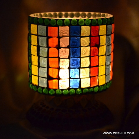 ROUND GLASS MULTI GLASS CANDLE HOLDER