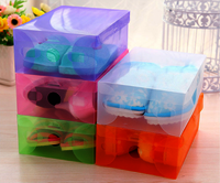 Custom pvc Clear Baby Shoe Packaging Box