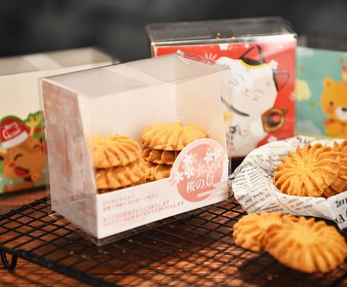 Custom food grade Clear Cookies Packaging Box