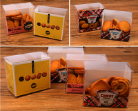 Custom food grade Clear Cookies Packaging Box