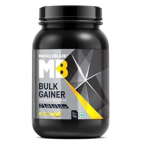 MuscleBlaze Bulk Gainer with Creatine, 2.2 lb (1kg)Banana