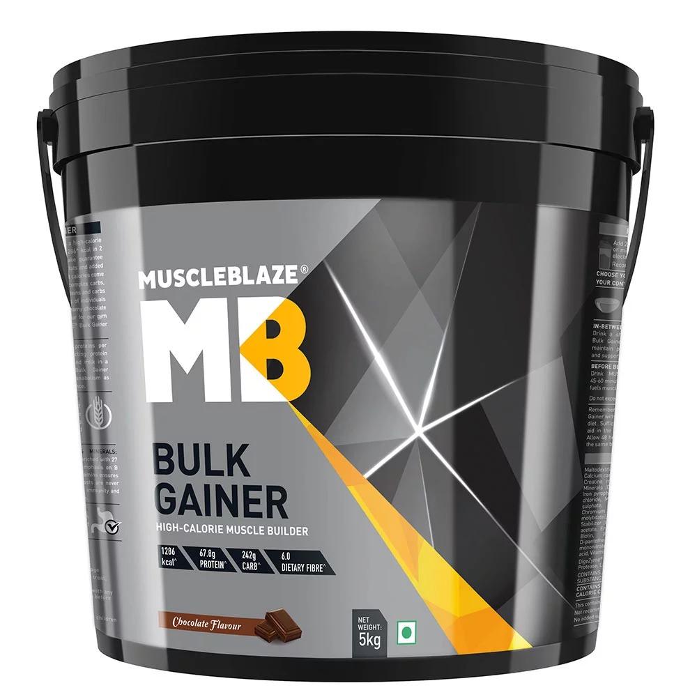 MuscleBlaze Bulk Gainer with Creatine, 11 lb(5kg) Chocolate