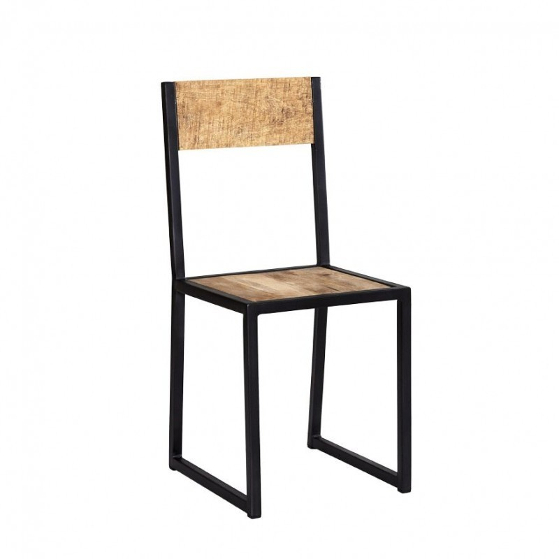 Industrial Dining iron Wood