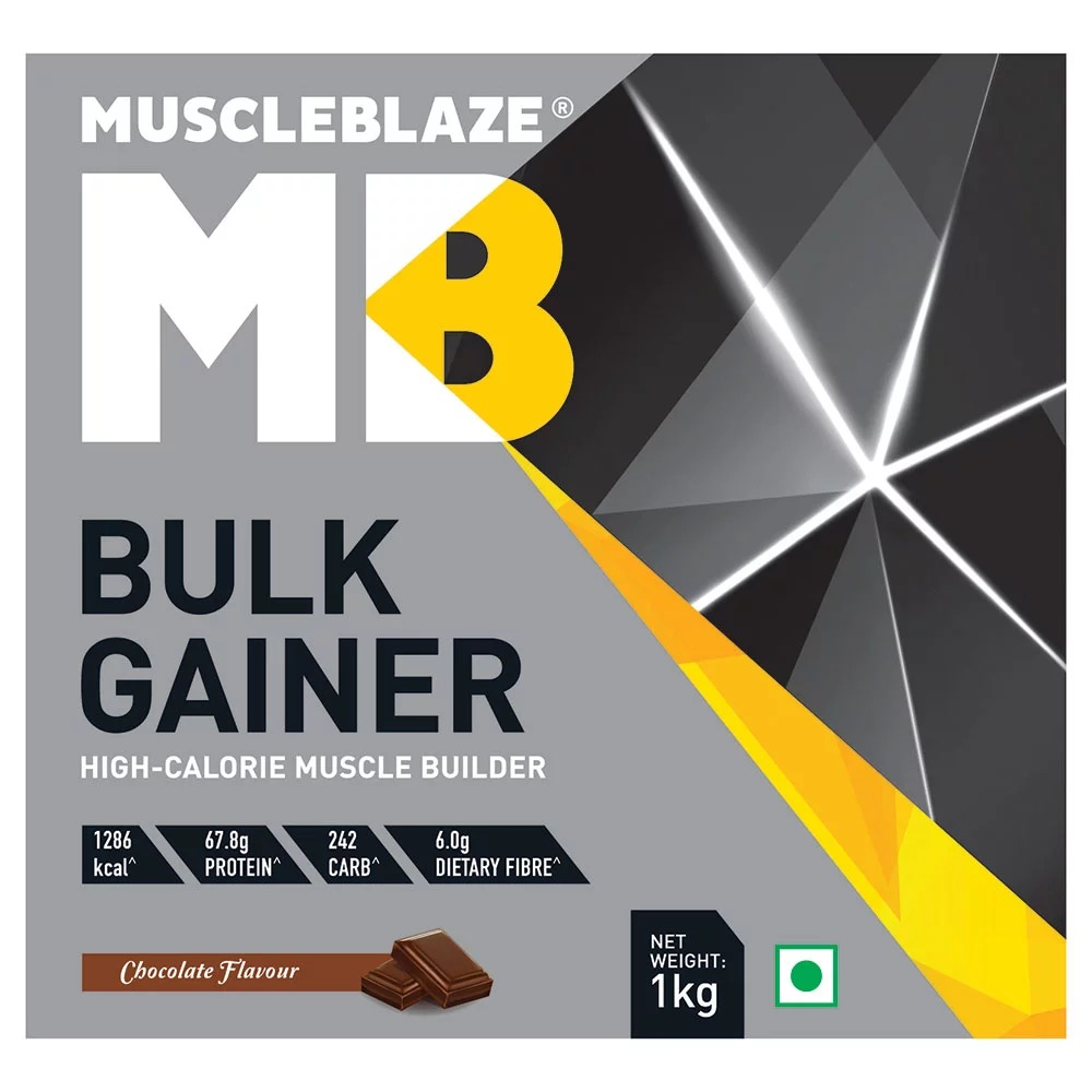 MuscleBlaze Bulk Gainer with Creatine, 2.2 lb(1kg)Chocolate