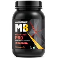MuscleBlaze Mass Gainer PRO with Creapure, 2.2 lb(1kg) Chocolate