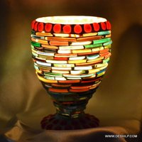 CUP SHAPE MOSAIC CANDLE HOLDER