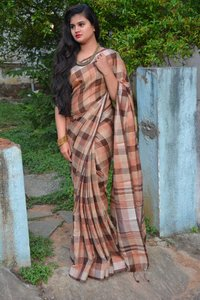 Ladies Linen Cotton Saree