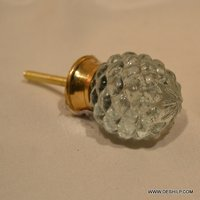 LIGHT GREEN GLASS KNOBS FOR DOOR & RACKS