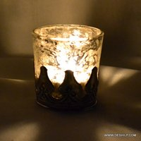 Decorated Glass Candle Votive