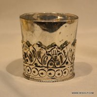 Silver Glass T-Light Candle