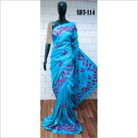 WOMEN'S EMBROIDERY WORK  SILK SAREE