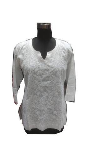 Ladies Handmade Cotton Lucknowi Kurti