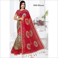 Women's Printed Silk Sarees
