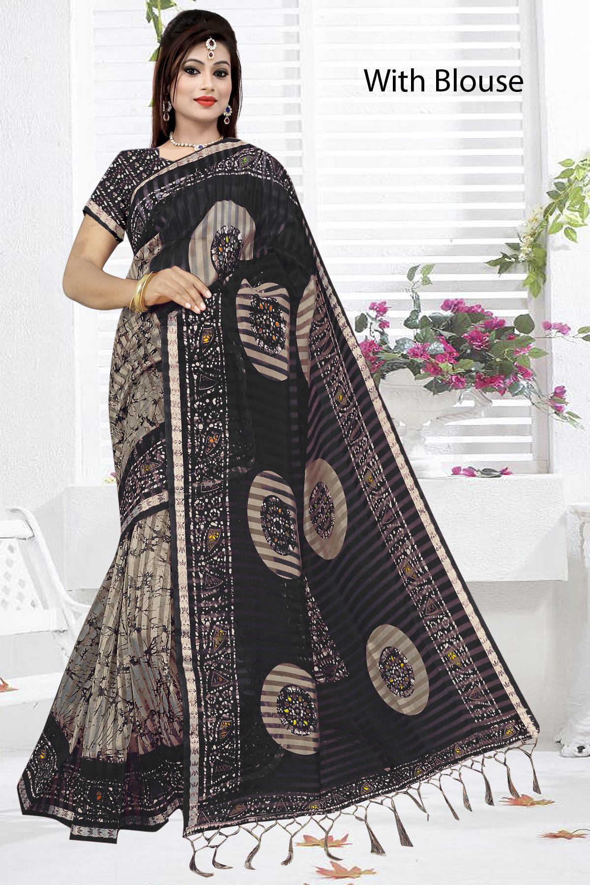 Women's Printed Silk Sarees