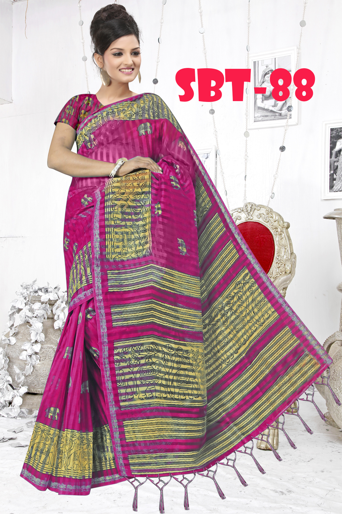 Ladies  Casual Wear Printed Saree