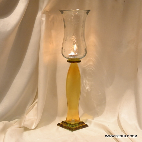 PILLAR GLASS CANDLE HOLDER