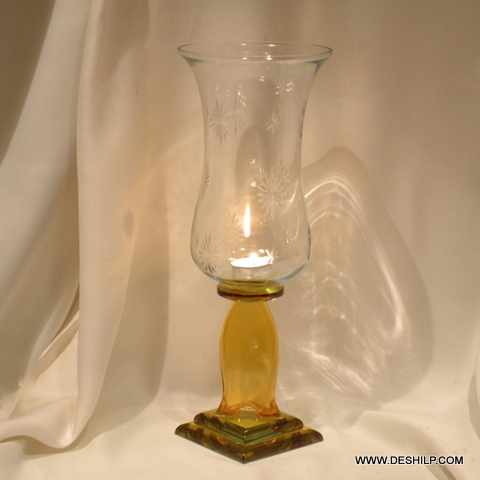 CANDLE HOLDER WITH GLASS PILLAR