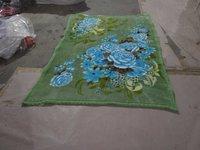 Flower Print Pattern Mink Blanket