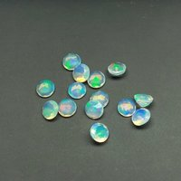 5mm Natural Ethiopian Opal Faceted Round Gemstone