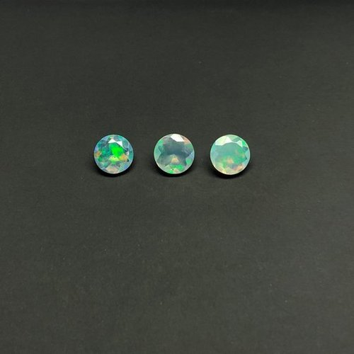 6mm Natural Ethiopian Opal Faceted Round Gemstone