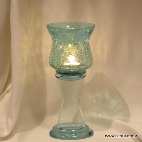 CREAK GLASS COLORFUL PILLAR CANDLE