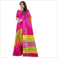 Bandhani Style Printed Saree