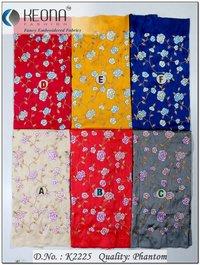 Thread Work Emroidery Fabric
