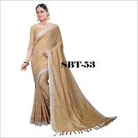 Women's Linen Saree