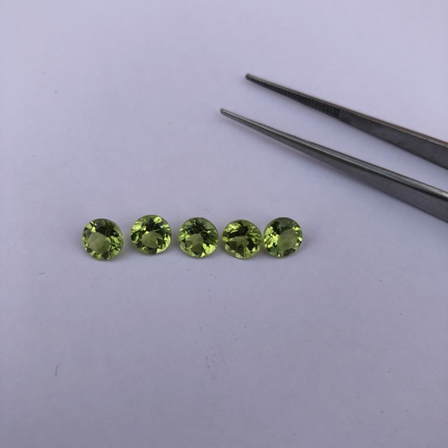 6mm Natural Peridot Faceted Round Gemstone