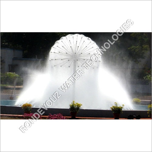 Ball Fountain With Mist Effect