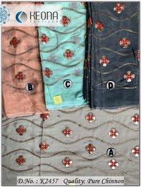 Gotta Patti Embroidery Fabric