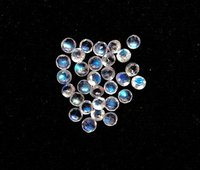 3mm Natural Rainbow Moonstone Faceted Round Gemstone