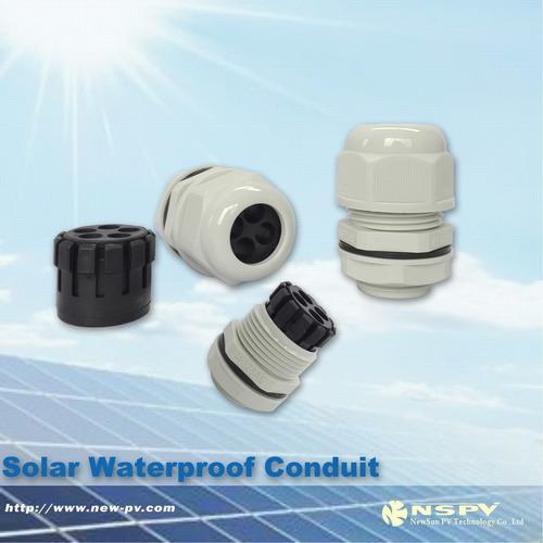 Solar Conduit Plain Screwed Adaptor Gland Connector 20-50mm