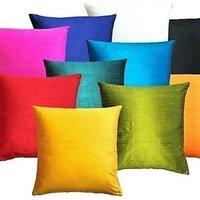 Plain Silk Cushion Cover