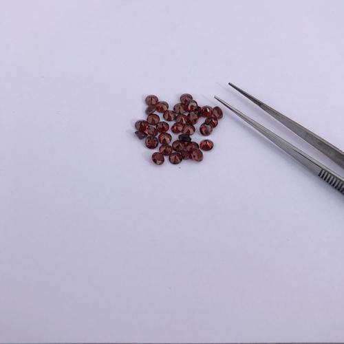 1.5mm Natural Red Garnet Faceted Round Gemstone