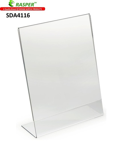 Acrylic Display Stand Tent Card Holder, A4 Portrait Size (Premium Quality)