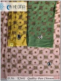 Pure Chinnon Embroidery Fabric