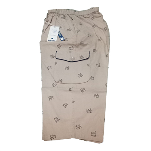 Mens Cotton Printed Capri