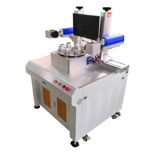 Laser printing machine with dual laser head