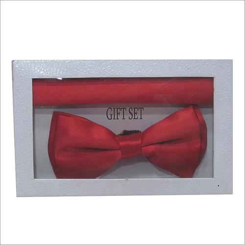 Micro Plain Bow Tie Set