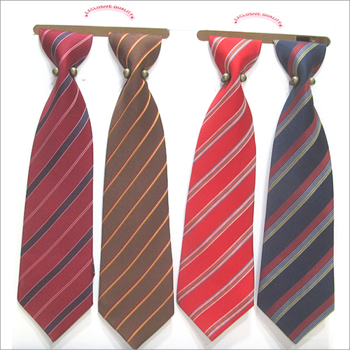 Polyster Strips Corporate Tie