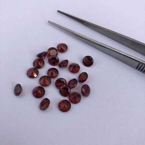 3.5mm Natural Red Garnet Faceted Round Gemstone