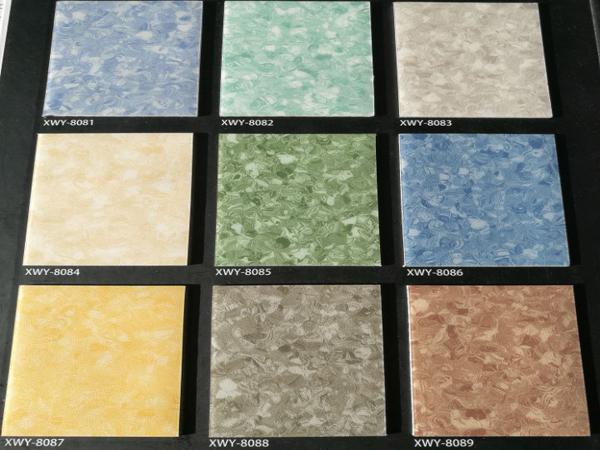 Vinyl flooring for hospital floor