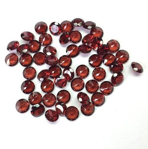 6mm Natural Red Garnet Faceted Round Gemstone