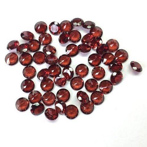 6mm Natural Red Garnet Faceted Round Gemstone