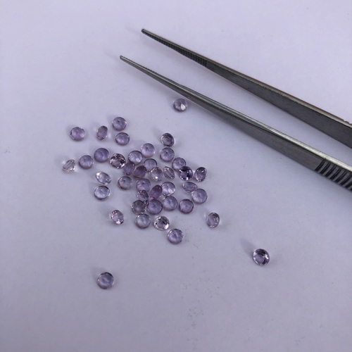 1.5mm Natural Amethyst Faceted Round Gemstone
