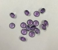 3.5mm Natural Amethyst Faceted Round Gemstone