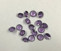 4mm Natural Amethyst Faceted Round Gemstone