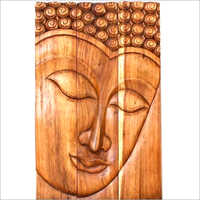 Hand Carved Wooden Wall Panel